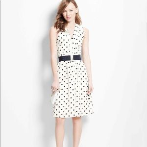Ann Taylor polka dot pleated front dress 👗